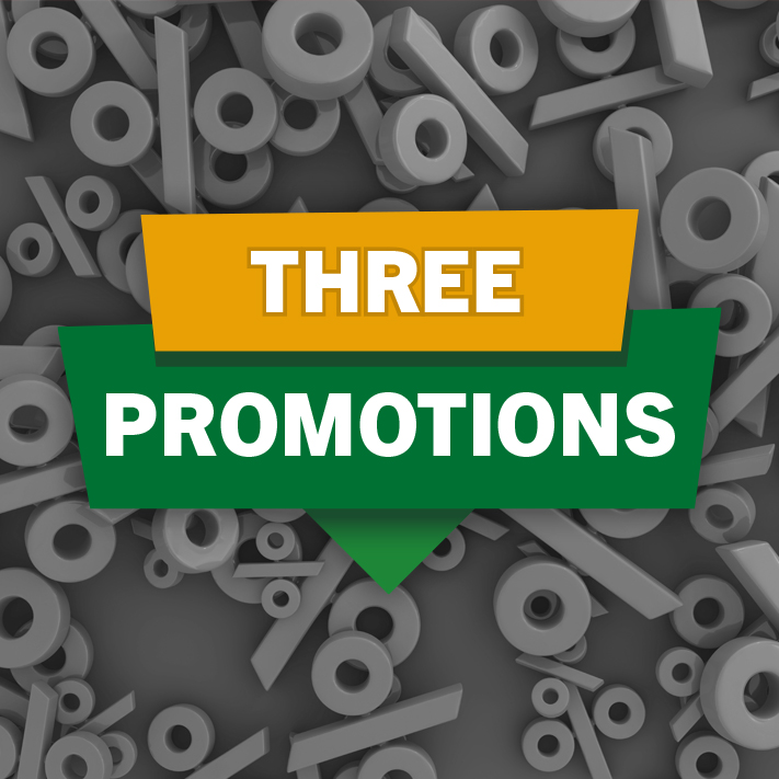 Three Promotions